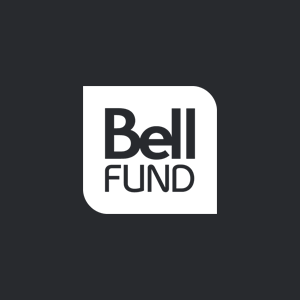 White Bell Fund logo on black background, linking to website