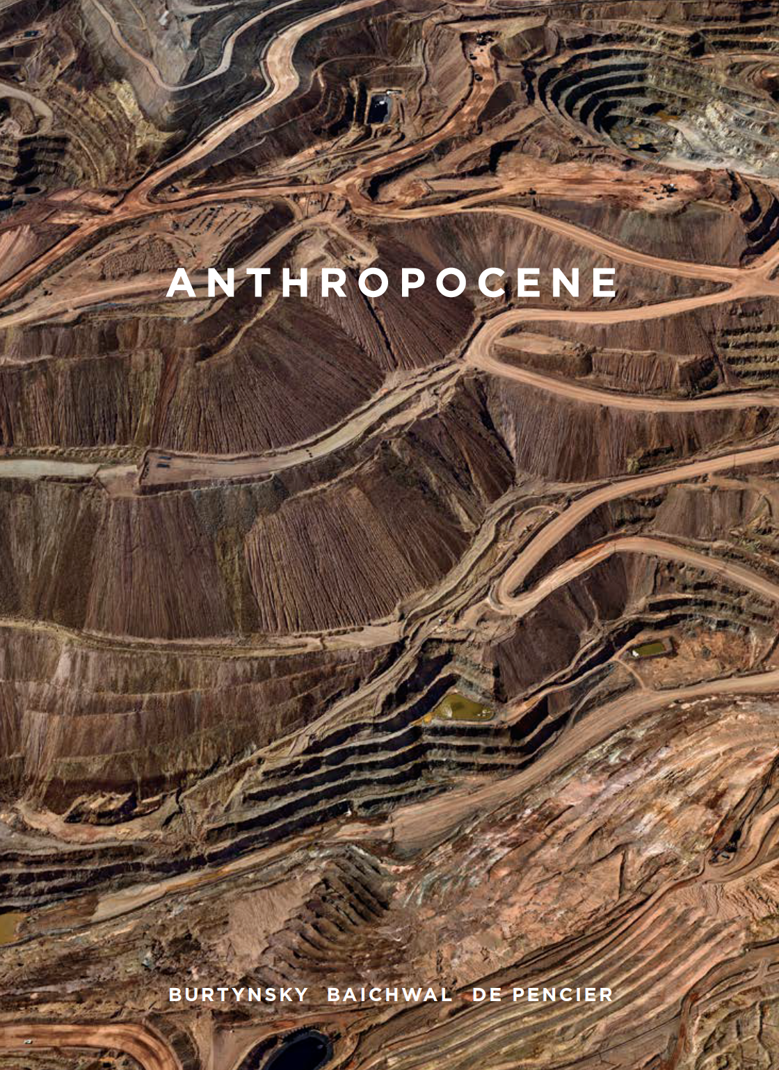 The front cover image for the Anthropocene exhibition catalogue from the Art Gallery of Ontario, published by Goose Lane Editions
