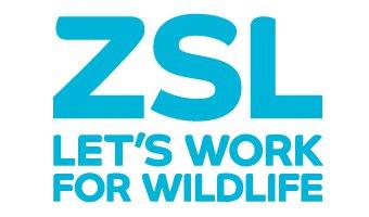 Blue ZSL logo on white background, linking to website