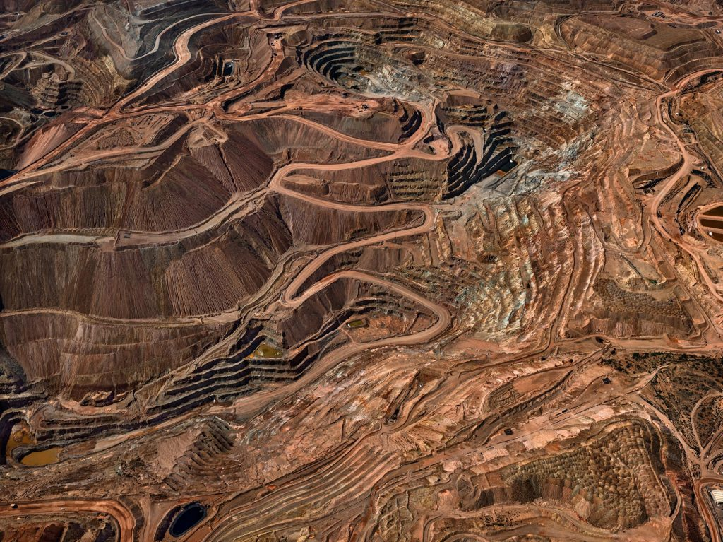 Tyrone Mine #3, Silver City, New Mexico, USA 2012. A photograph by Edward Burtynsky for The Anthropocene Project
