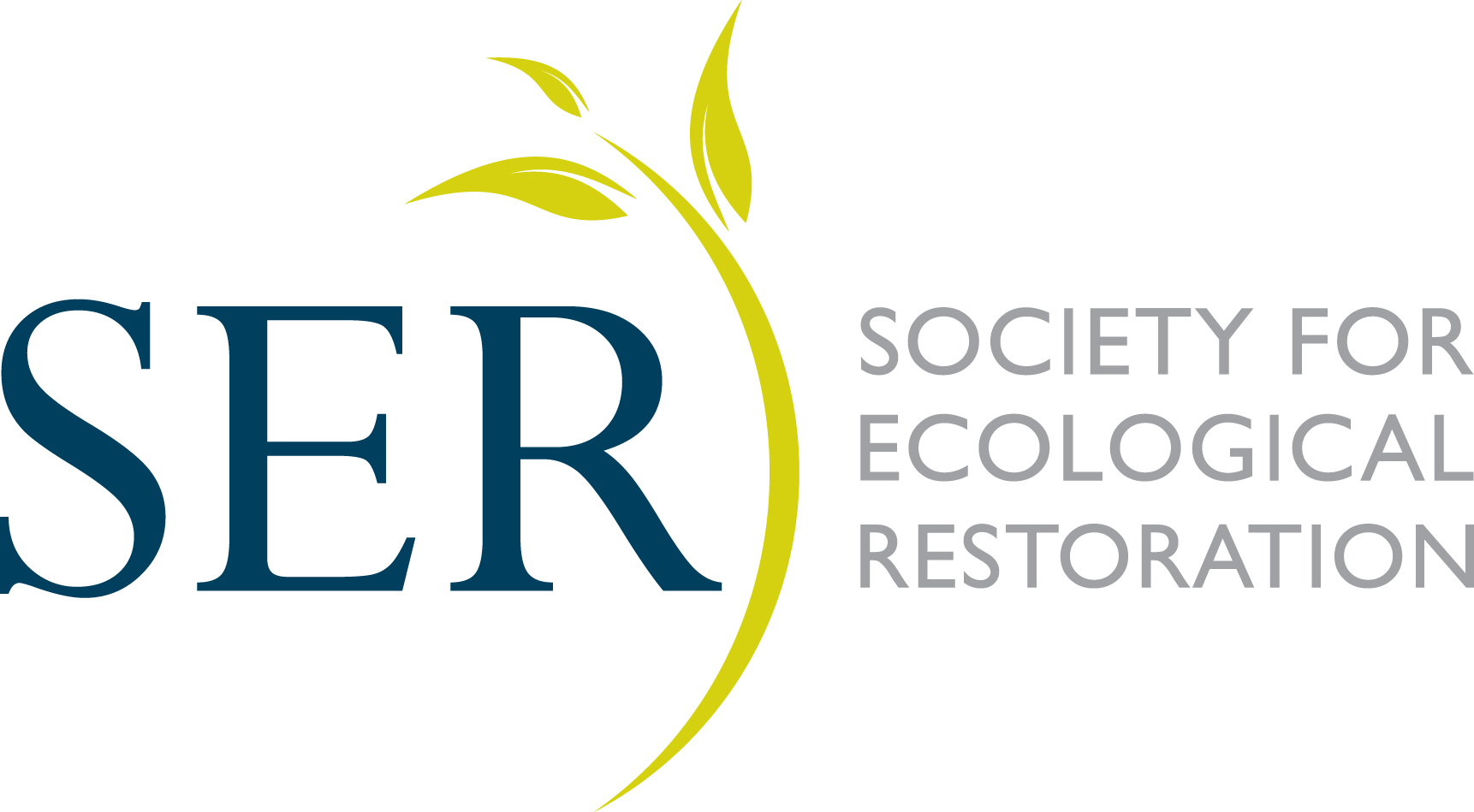 Society For Ecological Restoration logo on white background, linking to website