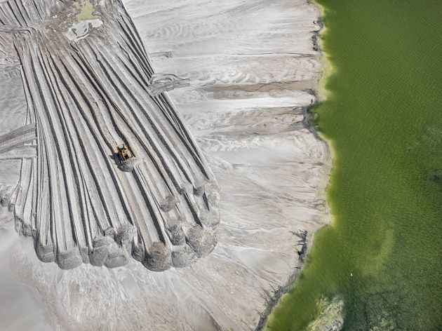 Phosphor Tailings Pond #4, Near Lakeland, Florida, USA 2012. A photograph by Edward Burtynsky from The Anthropocene Project