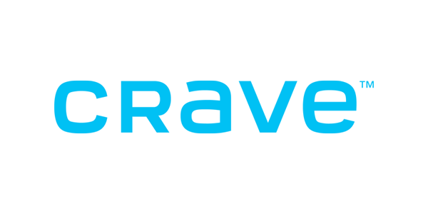 White and blue Crave logo on black background, linking to website