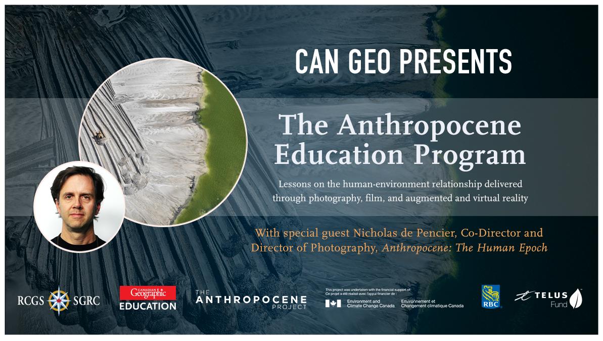 Anthropocene Education Program Launch Banner