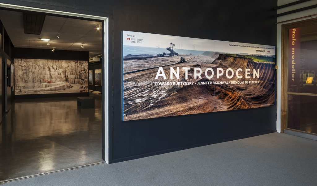 Installation shot of the Anthropocene exhibition at Tekniska Museet